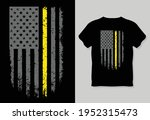 grunge usa flag with a thin... | Shutterstock .eps vector #1952315473