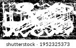 black and white grunge with... | Shutterstock .eps vector #1952325373
