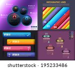 infographics template and web... | Shutterstock .eps vector #195233486
