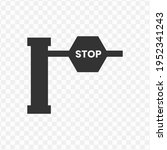 transparent  stop barriers icon ...