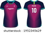 women sports jersey t shirt... | Shutterstock .eps vector #1952345629