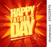 Happy Fathers Day Typographica...