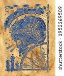 textured styled illustration...   Shutterstock . vector #1952369509