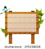 the view of noticeboard  | Shutterstock .eps vector #195238028