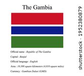 the gambia national flag ...   Shutterstock .eps vector #1952380879