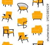 various scandinavian armchairs...   Shutterstock .eps vector #1952385229