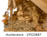 Nativity Scene Made Of Wood ...