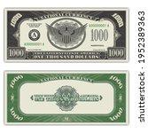 fictional us paper money. fake...   Shutterstock .eps vector #1952389363
