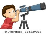 illustration of a boy using a... | Shutterstock .eps vector #195239018