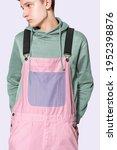 Teenage Boy In Pink Dungarees...