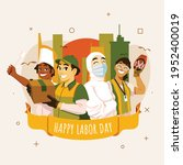 labor day with people of...   Shutterstock .eps vector #1952400019