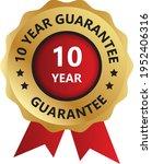 10 year guarantee badge ... | Shutterstock .eps vector #1952406316