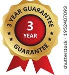 3 year guarantee badge ... | Shutterstock .eps vector #1952407093