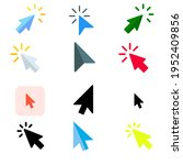 pointer icon logo. cursor sign. ...