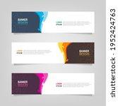 vector abstract banner design... | Shutterstock .eps vector #1952424763