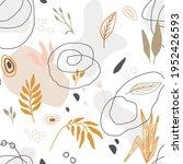 hand drawn seamless floral... | Shutterstock . vector #1952426593
