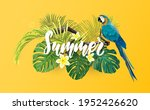 tropical summer design with... | Shutterstock . vector #1952426620