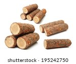 Pine Logs On White Background