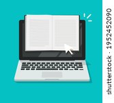 reading open notebook or... | Shutterstock .eps vector #1952452090