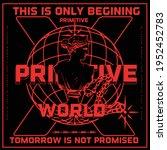 primitive slogan text with... | Shutterstock .eps vector #1952452783