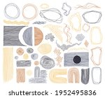 doodle frames  lines and dots... | Shutterstock .eps vector #1952495836
