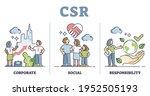 csr or corporate social...   Shutterstock .eps vector #1952505193