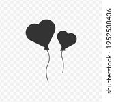 transparent love balloons icon...