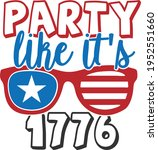 party like it's 1776   4th of... | Shutterstock .eps vector #1952551660