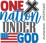 one nation under god   4th of... | Shutterstock .eps vector #1952551663