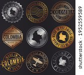 colombia business metal stamps. ... | Shutterstock .eps vector #1952559589