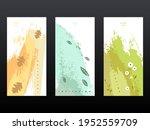 a set of three invitations.... | Shutterstock .eps vector #1952559709