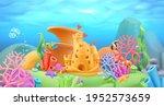underwater world panorama... | Shutterstock .eps vector #1952573659