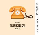 national telephone day vector.... | Shutterstock .eps vector #1952607196