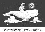 astronaut flying on beluga in...   Shutterstock .eps vector #1952610949