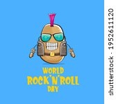 world rock n roll day poster... | Shutterstock .eps vector #1952611120