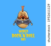 world rock n roll day poster...   Shutterstock .eps vector #1952611129