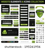 vector web design element and...   Shutterstock .eps vector #195261956