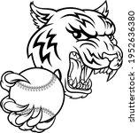 a tiger baseball player cartoon ... | Shutterstock .eps vector #1952636380