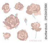 vector clipart roses blooms for ... | Shutterstock .eps vector #1952643580