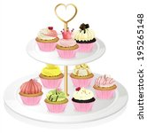 Illustration Of A Cupcake Tray...