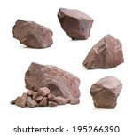 granite stones  rocks set... | Shutterstock . vector #195266390