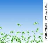 american dollar notes falling....   Shutterstock .eps vector #1952671453