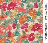 blooming summer or spring... | Shutterstock .eps vector #1952675803