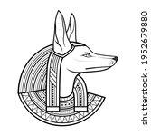 vector god of ancient egypt.... | Shutterstock .eps vector #1952679880