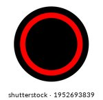 circles red and black. vector...   Shutterstock .eps vector #1952693839