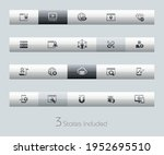 seo and digital marketing icons ... | Shutterstock .eps vector #1952695510