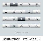 seo and digital marketing icons ... | Shutterstock .eps vector #1952695513