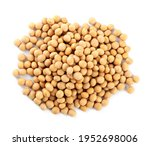 Heap Of Soya Beans Isolated On...