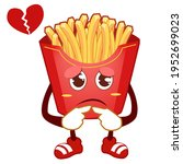 french fries mascot cartoon in... | Shutterstock .eps vector #1952699023