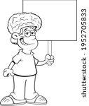 black and white illustration of ... | Shutterstock .eps vector #1952705833
